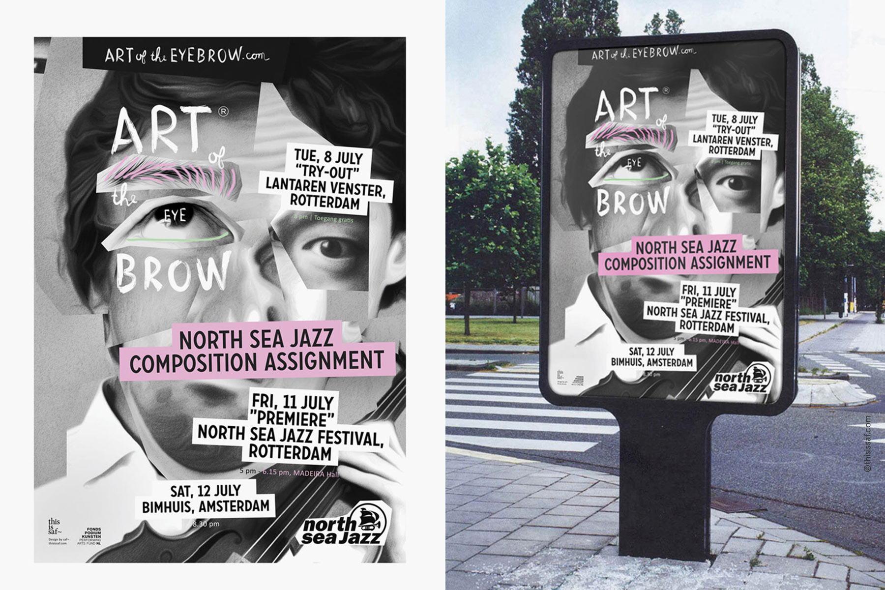 Art of the Eyebrow poster by saf~